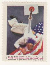 Poster stamp, Ever Ready Label, WWII poster #1, McClelland Barclay, MH