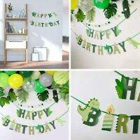 Dinosaur Happy Birthday Banner Kids Baby Shower Birthday Party F#mxq Bals Top