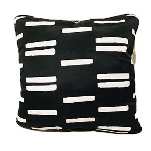 Project 62 Outdoor Deep Seat Pillow Back Cushion DuraSeason Black White 22x22