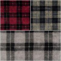 Superflausch klassisches Karo in 3 Farbkombinationen| Wellness-Fleece Trendstoff