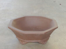 "Hexagon Zisha Bonsai Pot Shohin Dwarf Planter 6.25""x2.25"""