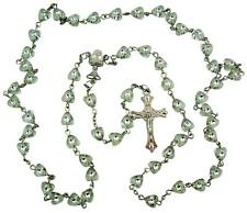 with Chalice Rosary Necklace, 19 Inch Holy Communion Gift 6Mm Heart Shape Bead