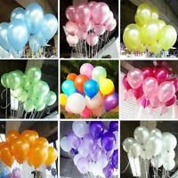 100Pcs Colorful Pearl Latex Balloon Celebration Party Birthday Wedding 10 inch