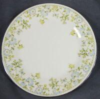 "Noritake FLOURISH 2608 Dinner Plate 10 5/8"" Light Blue & Yellow Floral Rim"