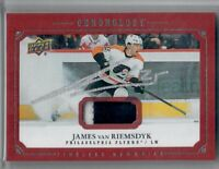 2019-20 UPPER DECK CHRONOLOGY 2 COLOR PATCH JAMES van RIEMSDYK SILVER AUTO