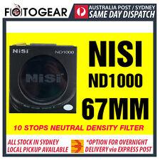 NISI Pro ND1000 Ultra Thin 10 Stops Neutral Density Filter ND400 67mm Hoya