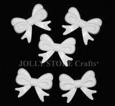 White Bow 10pc Ties Novelty Charms Beads for crafts necklaces fun jewelry shower