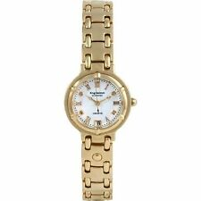 Krug Baumen 5116DL Charleston 4 Diamond White Dial Gold Strap With Tags