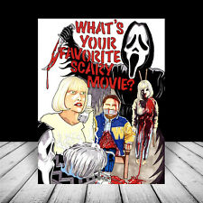 New SCREAM artist signed POSTER ART, Ghostface in his mask, drew barrymore movie