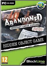 ABANDONED: CHESTNUT LODGE ASYLUM Hidden Object PC Game CD-ROM NEW