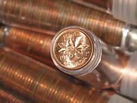 1960 Canada One Cent Brilliant Uncirculated Roll of 50 coins E4938