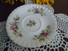 GREEN STAMP 16 cms SOUP COUPE SAUCER ONLY MOSS ROSE DESIGN ROYAL ALBERT ENGLAND