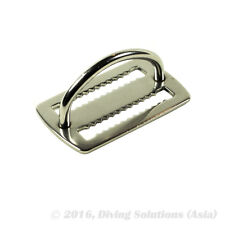 2 x  Scuba Diving Stainless Steel Weight Belt Keeper with D-Ring, Pair