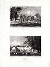 L'agriculture Woods et lunettes, Northamptonshire-Rare paire de Neale Prints (1829)