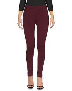 Leggings Pantaloni Donna KAOS Made in Italy SA702 Viola Melanzana Tg S