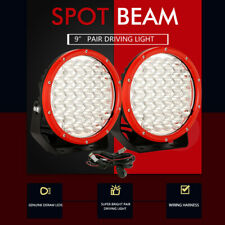 Pair 9 inch LED Driving Lights Spot White Work Lamp Spotlights 4x4 OffRoad Round