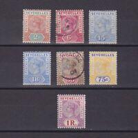 SEYCHELLES 1897, SG# 28-34, CV £110, part set, MH/Used