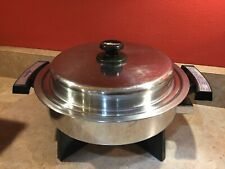 Vintage LIFETIME WEBALCO Stainless Steel Liquid Core Electric Skillet