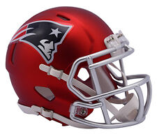 New England Patriots Riddell NFL MATTE BLAZE RED SPEED Mini Helmet NEW 2017