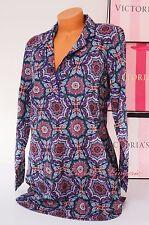 NWT Victoria's Secret Sleep Long Sleeve Pajama Sleepshirt L VS Multi-colored