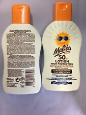 2 x  Malibu Kids Sun Lotion High Protection SPF50 200m very water resistant