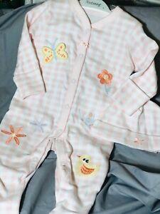 Baby Girls Spanish Style Romper & Hat Babygrow Sleepsuit 100% Cotton 0-3 3-6 Mth