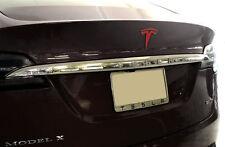 "Tesla Model X Tailgate Emblem ""T"" Vinyl Decal Sticker (Matte Red)"
