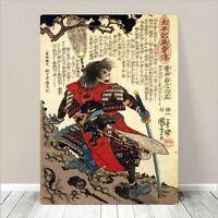 "Awesome Japanese SAMURAI SWORD FIGHT Art CANVAS PRINT 24x18""~ Kuniyoshi  #050"