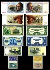 2x 5,10 Pfennig - 5,10,20,50,100 Deutsche Mark - Issue BDL 1948 - Reproduction