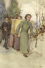 Ethel M. Mallinson, Sharing the Load with J.B. Kitson –1911 watercolour painting