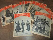 22 x Zeitschruft Der Rundblick 1942