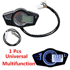 Motorcycle Speedometer 15000 RPM Multifunction Tachometer Odometer Gauge 12V