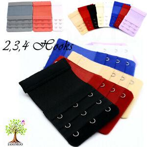 2,3,4 Hook Bra Extender Extension Bra Strap Strapless Colour Underwear Maternity