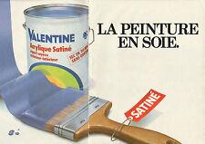 Publicité 1981 (Double page)  Peinture VALENTINE acrylique satiné