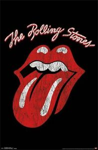 ROLLING STONES - CLASSIC TONGUE LOGO POSTER - 22x34 JAGGER MUSIC 14377