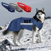 Wasserdichter Hundemantel Hundejacke Winter Reflektierend für Hunde Windhund L
