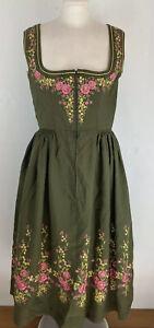 Vintage Size Uk 10 Fairytale Pioneer Cottagecore Prairie Tyrol Dirndl Dress