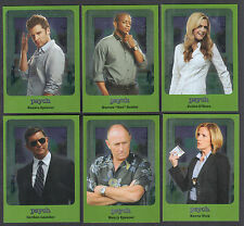PSYCH SEASONS 5-8 (2015) Complete CHARACTER BIO SILVER FOIL Chase Card Set C1-C6