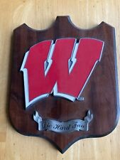 Die Hard Fan Wisconsin Badgers Logo Plaque For Your Man Cave Wall Decor