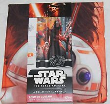 Star Wars The Force Awakens Fabric Shower Curtain 70x72 new