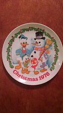 Walt Disney, Donald Duck Christmas collector plate by Schmid 1976