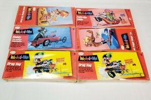 (6) Testors Weird-Ohs Model Kits 1993-1994 Sealed #732 #743 #741 #737 #736 #736