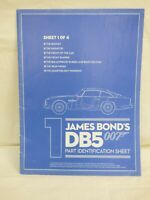 EAGLEMOSS BUILD YOUR JAMES BOND 1:8 ASTON MARTIN DB5 Parts Identification Sheet
