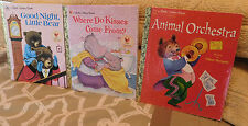3 Golden Books~ANIMAL ORCHESTRA~WHERE DO KISSES COME FROM?~GOOD NIGHT BEAR