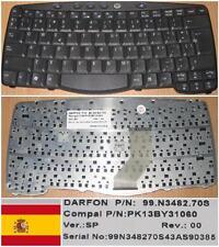 CLAVIER QWERTY ESPAGNOL ACER TM270 270 99.N3482.70S PK13BY31060 Noir