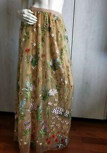 🌟MARINA RINALDI  Embroidery Skirt  PLUS size 25MR-16W USA_20GB_ 46DE_ 54IT_50FR