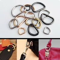 Metal Heavy Duty Handbag Leather Bag Purse Strap Belt Web O D Ring Buckle Clasp
