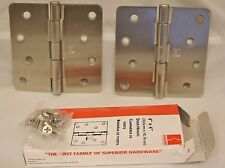 "Hager Hinges RC1741 1/4"" Radius US15 Satin Nickel 4"" x 4"""