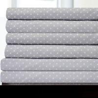 6 Piece Dot Print Bedroom Sheet Set 1500 Thread Count Egyptian Comfort