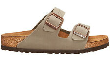 Birkenstock Arizona Mens Sandals Suede Leather Cork Slip on Buckle Footwear Stone 44